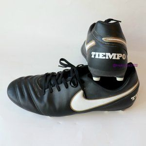 Nike Tiempo Black Soccer Cleats Size 13